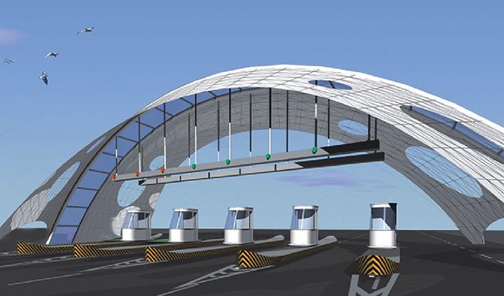 设计中引入生态,环保,人文,艺术的概念,把高速公路的景观建设成为具有